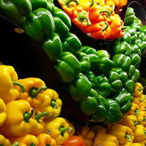 Colorful Sweet Peppers by Lope Piamonte Jr - Food & Drink Fruits & Vegetables