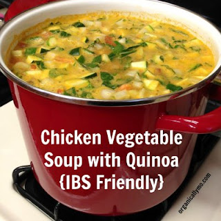 Chicken Vegetable Soup with Quinoa {IBS Friendly}
