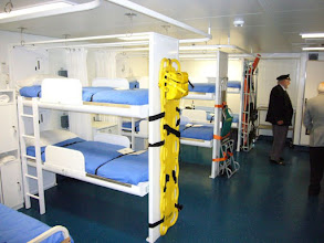Photo: Male ward in sick bay