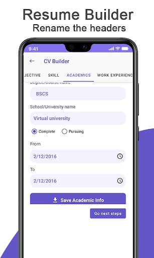 Cv Maker App Resume Builder Pdf Template Download Apk Free For Android Apktume Com
