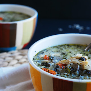 CHICKEN, MUSHROOM & WILD RICE SOUP (GF, DF, EGG, PEANUT/TREE NUT FREE)