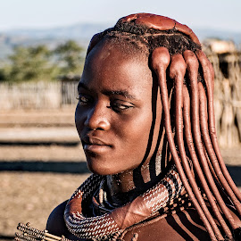 HIMBA TRIBAL GIRL, NAMIBIA, AFRICA. by Doug Hilson - People Street & Candids