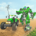Heavy Tractor Robot Transformation: Survival Hero Icon