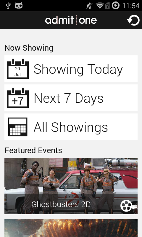 Admit-One Mobile Booking- screenshot