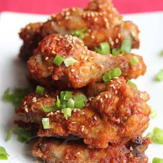 Crispy Un-Fried Chicken Wings.