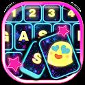 El fondo de teclado rosado icon