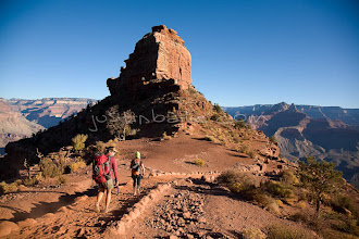 Photo: Hiking the South Kaibab Trail in the Grand Canyon. Grand Canyon NP, AZ.