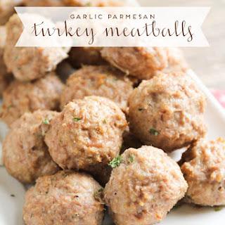 Garlic Parmesan Turkey Meatballs