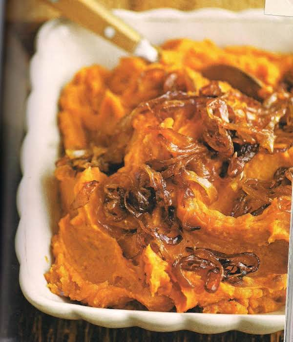 Maple Whipped Sweet Potatoes With Caramelized Onio Recipe