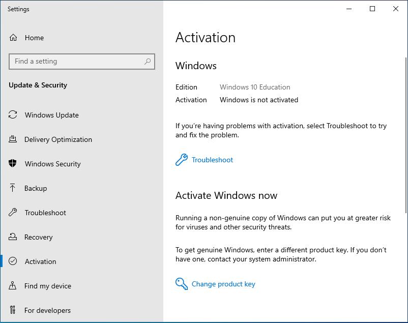 قم بترقية Windows 10 Pro إلى التعليم