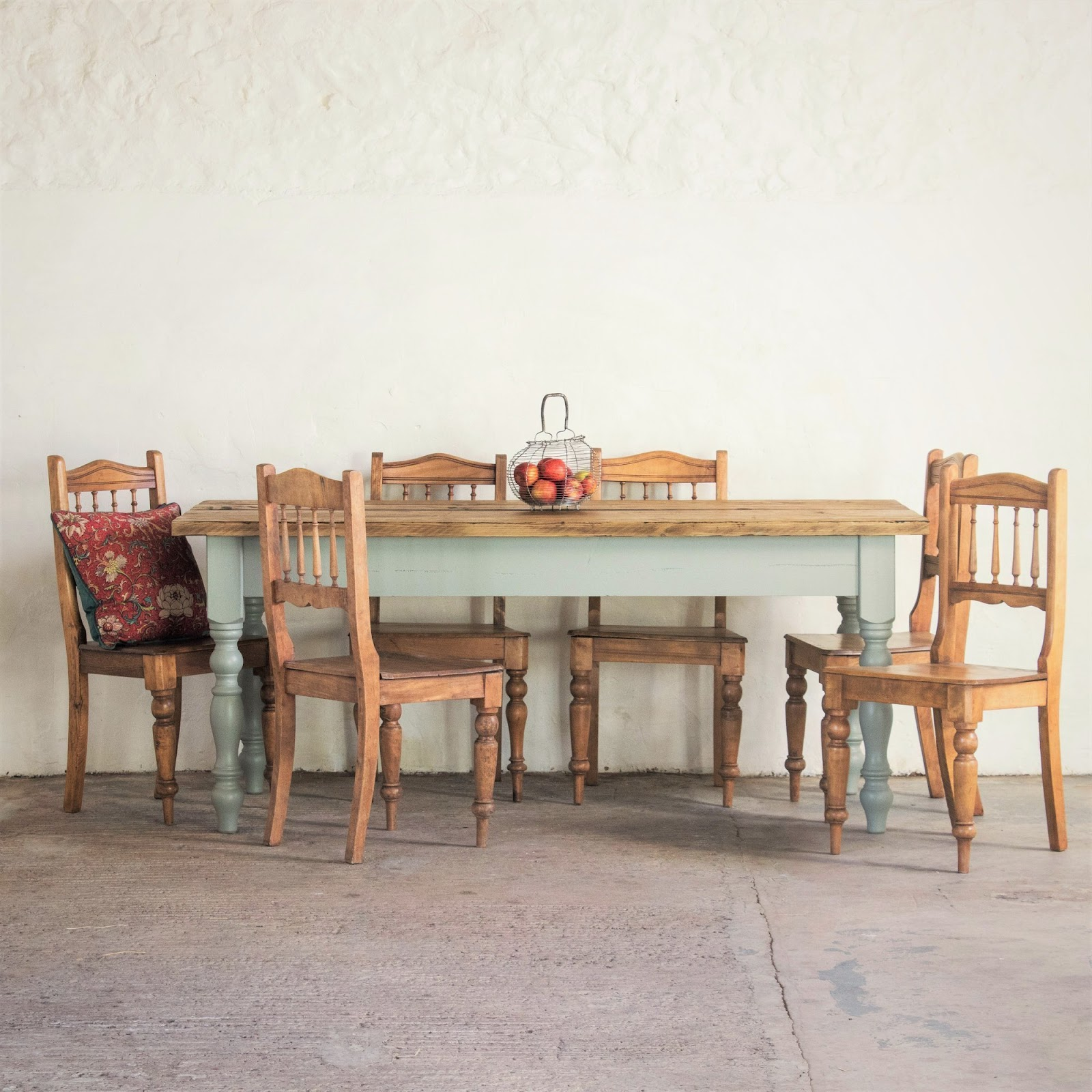 rustic farmhouse table weathered vintage dining