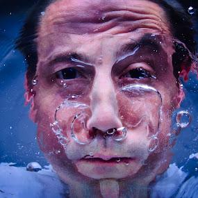 deep breath by Gregg Eisenberg - People Portraits of Men ( water, studio, drown, man )
