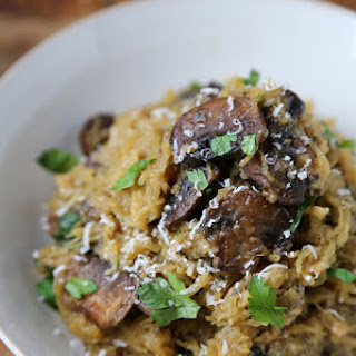 Spaghetti Squash with Mushrooms Parmesan