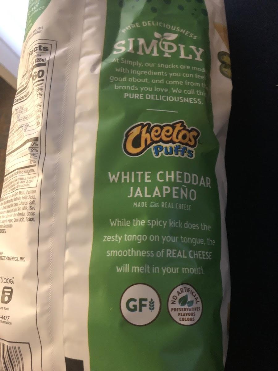 Cheetos Puffs - White Cheddar Jalapeño