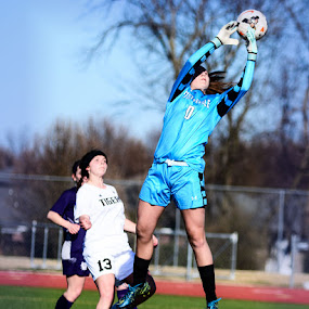 Protecting the goal by John Roberts - Sports & Fitness Soccer/Association football