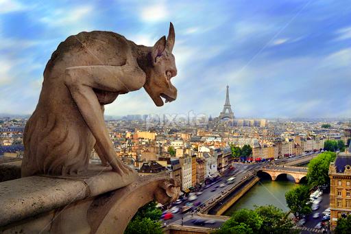Cathedral of Notre Dame Gargoyles Notre Dame Gargoyle Paris by