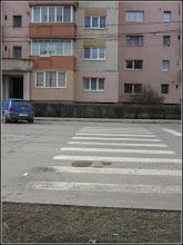 Photo: Str. Tineretului - trecee de pietoni blocata de spatiu verde - 2018.03.05
