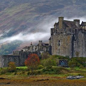Eilean Donan Castle by Dirk Sachse - Landscapes Travel ( scotland, eilean donan castle, fog, highlander, castle, britain )