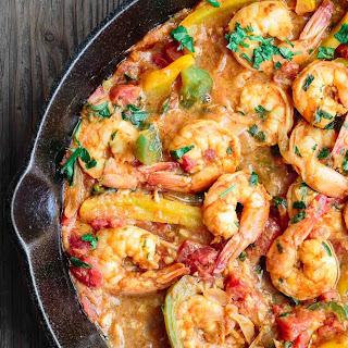 Easy Mediterranean Shrimp.