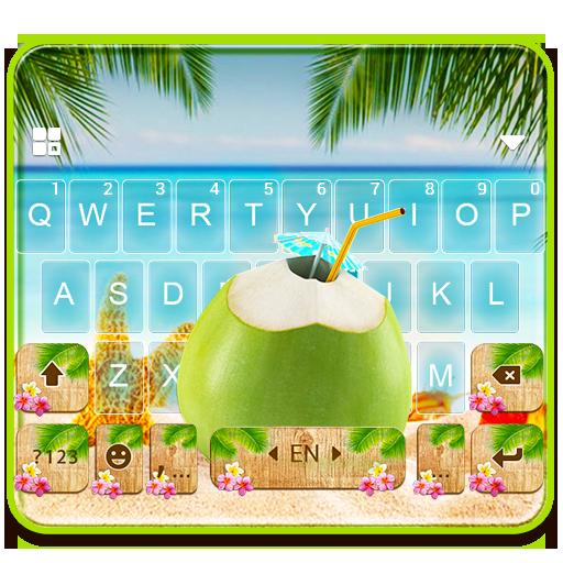 Summer Beach Coconut Keyboard Theme Icon