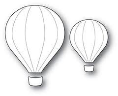 Poppystamps Die - Hot Air Balloons