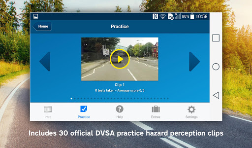 Screenshot for The Official DVSA Hazard Perception Practice in Hong Kong Play Store