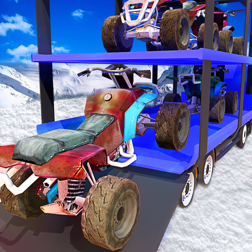 Snowmobile Transport Truck 3D