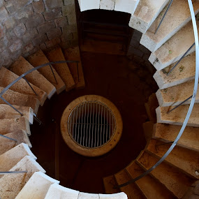 by Miho Kulušić - Buildings & Architecture Architectural Detail ( stairs, dubrovnik, lokrum, well, historical,  )