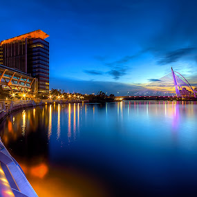 The Putrajaya Holdings Building in Blue Hour  ... by Mohd Tarmudi - Buildings & Architecture Office Buildings & Hotels ( putrajaya, pjh )