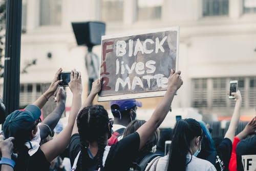 Images of people protesting in support of Black Lives Matter