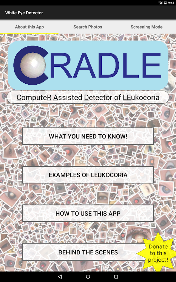 CRADLE White Eye Detector- screenshot