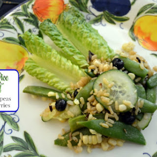 Take-out Tuesday, Wild Rice Salad with Corn, Peas & Blueberries
