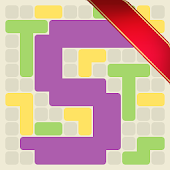 Surface Trimino: increase the area. Casual game icon