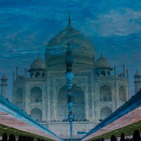 Taj Mahal by Shashank Ramesh - Travel Locations Landmarks ( water, reflection, marble, iconic, wondersoftheworld, agra, india, tourism, architecture, blues, delhi )
