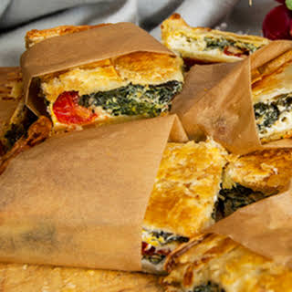 Spinach, Feta, Silverbeet And Egg Pie.