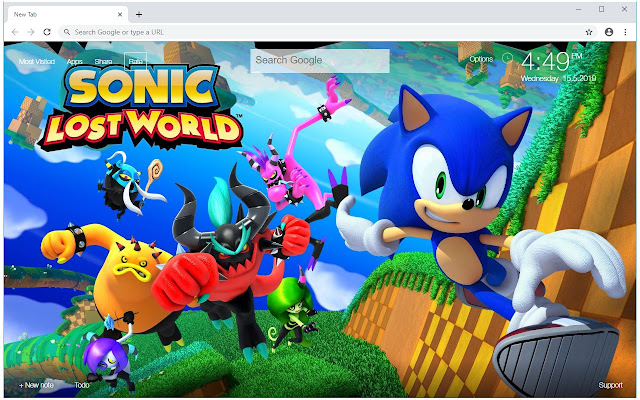 Mario & Sonic HD Wallpapers New Tab Themes