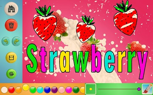 Learn & Draw Fruit Names Screenshot