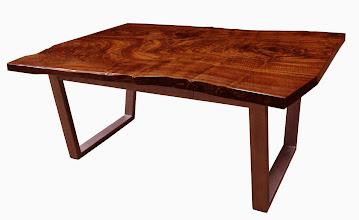 Photo: http://dorsetcustomfurniture.blogspot.com/2012/07/claro-walnut-slab-desk-with-secret.html  http://dorsetcustomfurniture.blogspot.com/p/stuff-for-sale.html