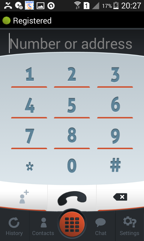 SpeedTel Dialer SIP- screenshot