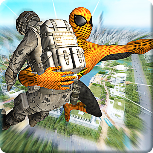 Rescue Spider Super War Hero - Flying Superhero