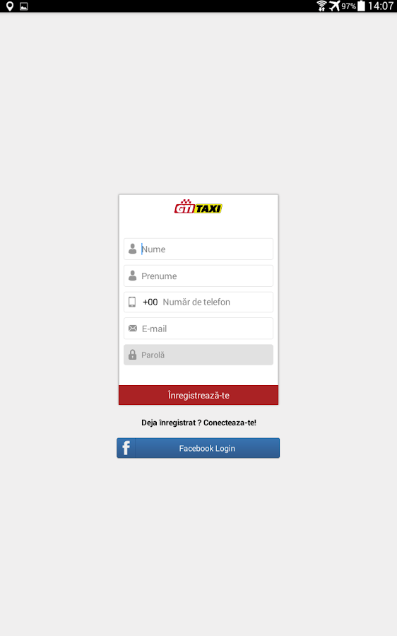 GTI Taxi Client- screenshot