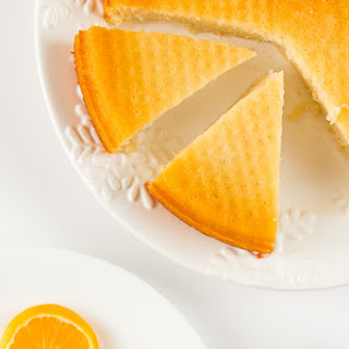 Semolina Orange Cake With Bay Leaf Syrup.