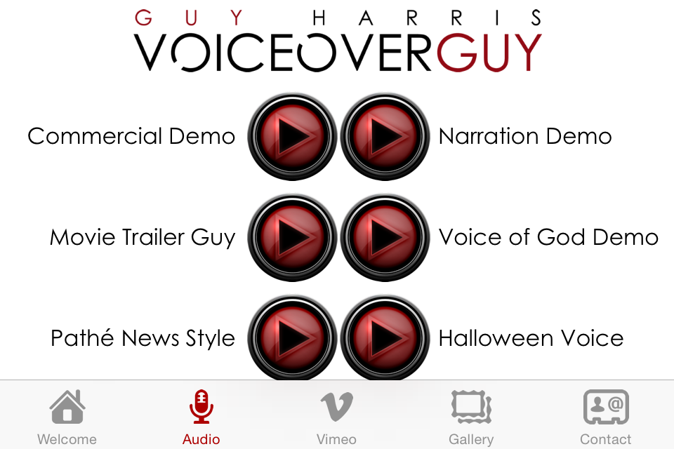 VoiceoverGuy The App- screenshot