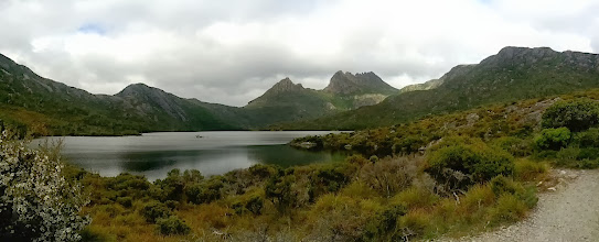 Photo: Cradle Mountain national park.  We hiked up to the Marions lookout on the far right.