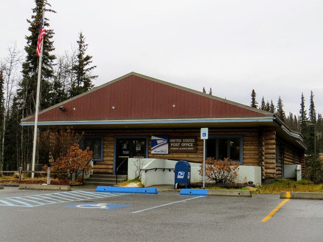 Kasilof, AK log cabin-style post office