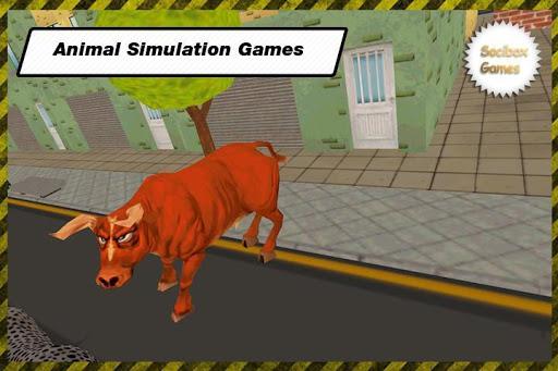 憤怒的公牛攻擊的3D遊戲