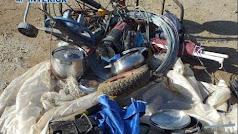 Material robado y recuperado por la Policía Nacional.