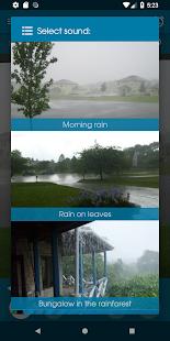 Entspannen Regen Screenshot
