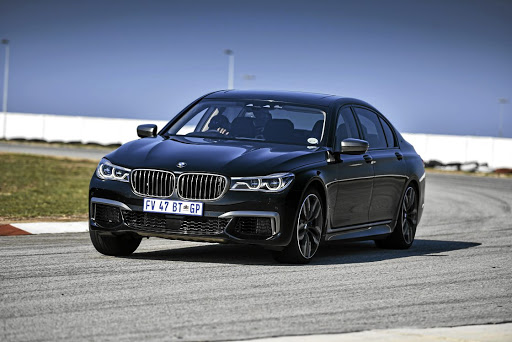 Pushing a 7 Series, even an M Performance one, around a racetrack seems unnatural. Picture: BMW SA