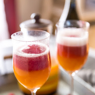 Mango-Raspberry Prosecco Float.